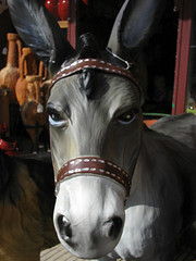 Dubious donkey decoration in La Bisbal