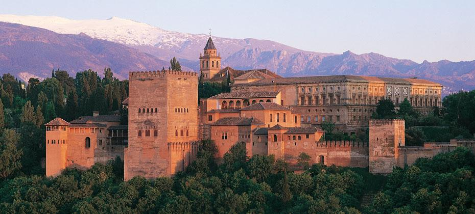 The view on a Spanish Journeys stroll: the Alhambra from the Albaycín