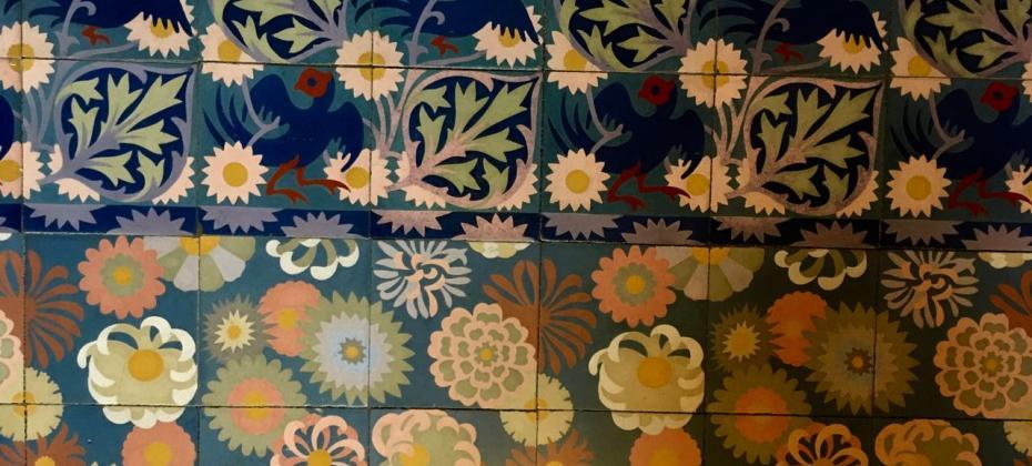 Modernist Tile in Soller on a Spanish Journeys Tour