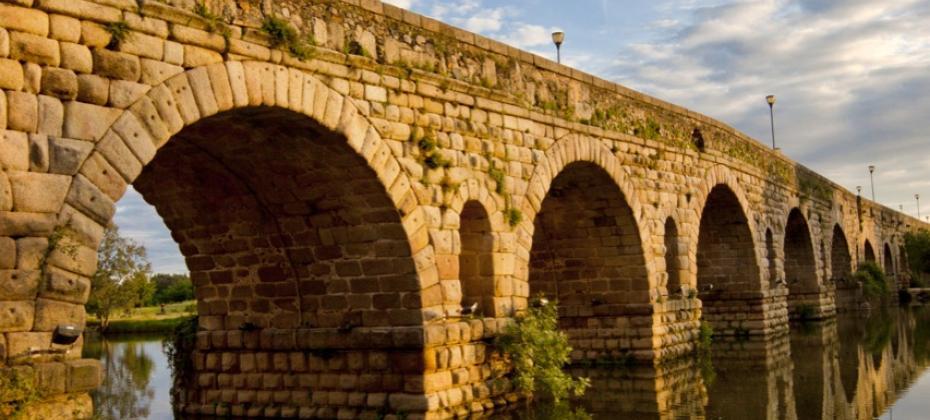 The Roman bridge in Merida Extremadura