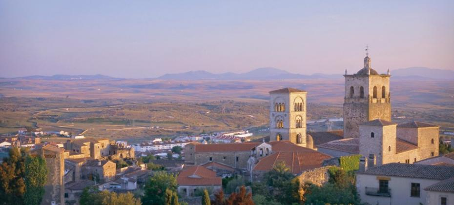 Trujillo Extremadura with countryside behind