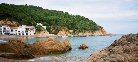 Tamariu, one of the coastal villages on the Spanish Journeys Costa Brava trip