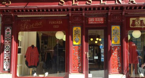 Spanish Journeys takes a walk by Madrid's historic storefronts-Seseña