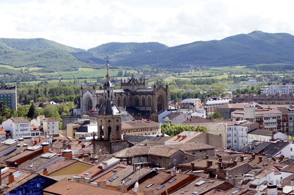 The view from the Cathedral in Vitoria Spain